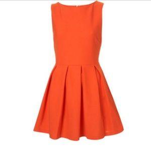 Topshop orange skater dress